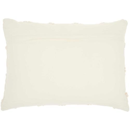 """Kathy Ireland Pillow Aa242 Ivory 14"""" X 20"""" Throw Pillow"""