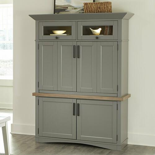 See Details - AMERICANA MODERN - DOVE Workstation with LED Light