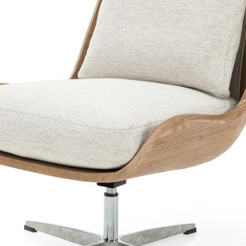 Noble Platinum Cover Burbank Swivel Chair