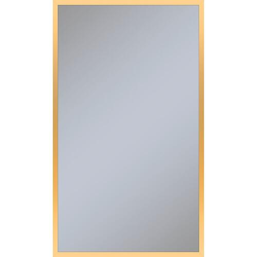 "Profiles 23-1/8"" X 39-1/4"" X 3/4"" Framed Mirror In Matte Gold"