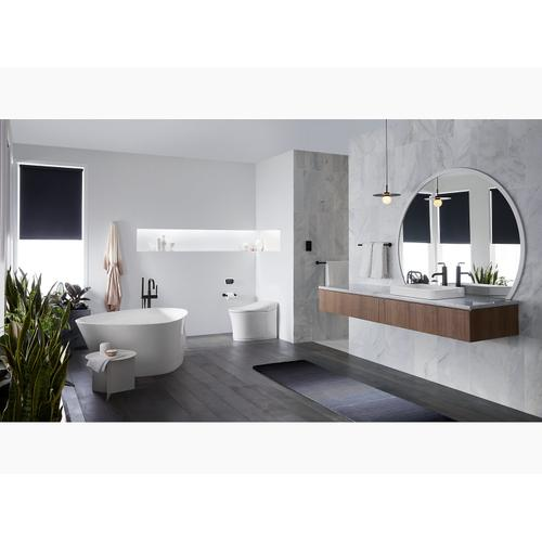 White One-piece Elongated Dual-flush Intelligent Chair-height Toilet