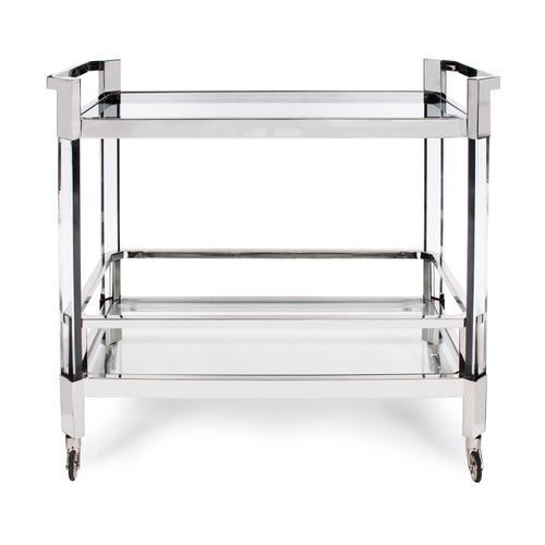 Stainless Steel and Acrylic Bar Cart
