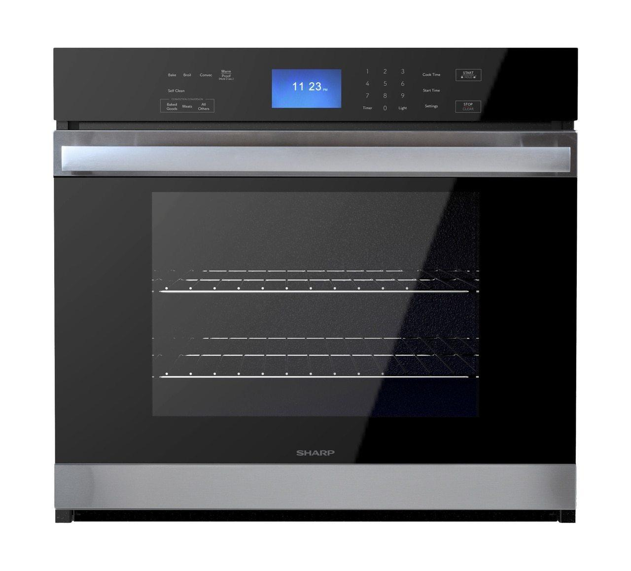 SharpStainless Steel European Convection Built-In Single Wall Oven