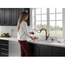 Single Handle Pull-Down Kitchen Faucet with Soap Dispenser