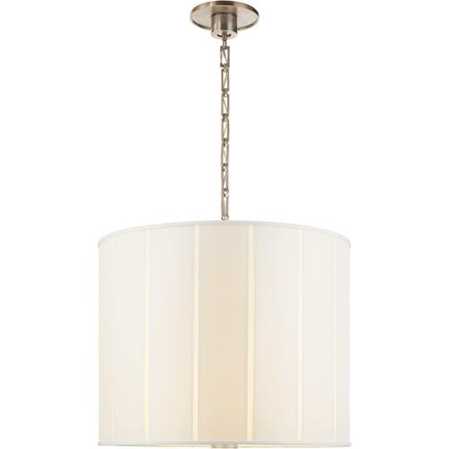 Barbara Barry Perfect Pleat 2 Light 23 inch Pewter Finish Hanging Shade Ceiling Light
