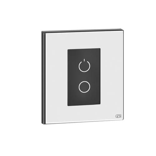 Optional kit capacitive keyboard for chromotherapy control with IP connector for wall-mounted shower systems