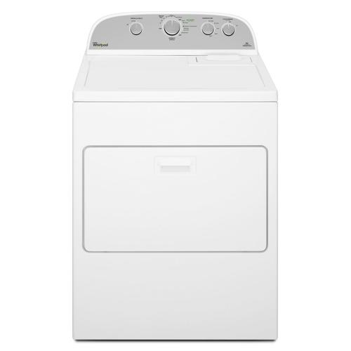 Whirlpool - 7.0 cu.ft Top Load Electric Dryer with Wrinkle Shield™ Plus White