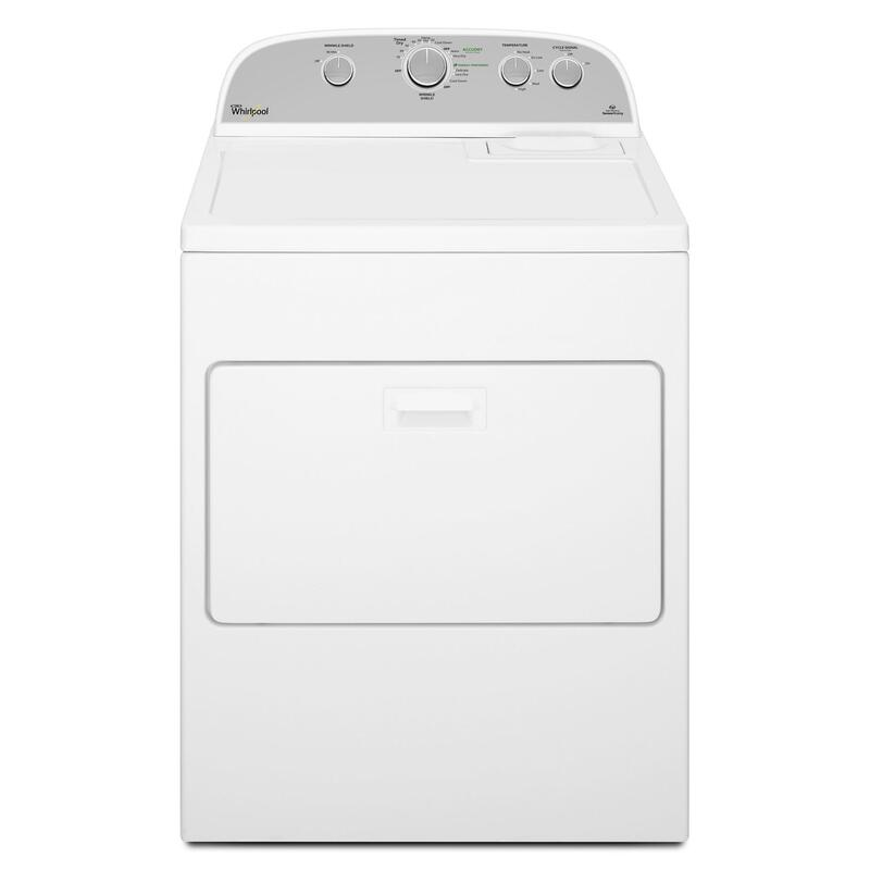 View Product - 7.0 cu.ft Top Load Electric Dryer with Wrinkle Shield™ Plus White
