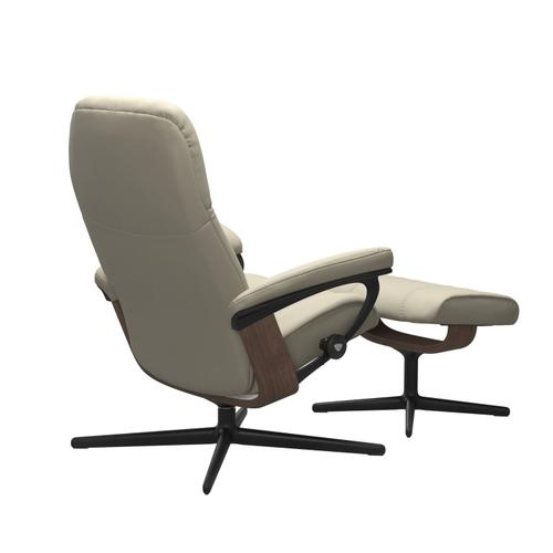 Stressless By Ekornes - Stressless® Consul (S) Cross Chair with Ottoman