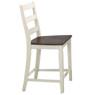 Glennwood Stool  White & Charcoal