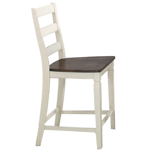 Glennwood Counter Stool  White & Charcoal