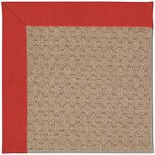 """Creative Concepts-Grassy Mtn. Dupione Crimson - Rectangle - 24"""" x 36"""""""