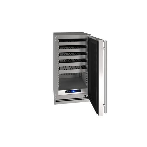 "18"" Wine Refrigerator With Stainless Solid Finish (115 V/60 Hz Volts /60 Hz Hz)"