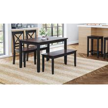 Asbury Park 4-pack Dining - Table With 2 Chairs and Bench - Black /autumn