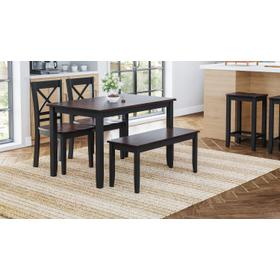 See Details - Asbury Park Table, 4 Chairs & Bench Black/autumn