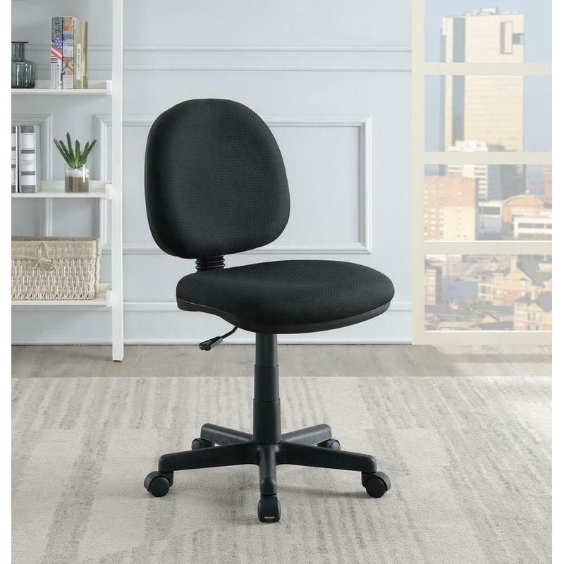 View Product - Casual Black Office Chair With Wheels