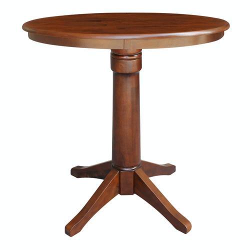 "John Thomas Furniture - 36"" Pedestal Table in Espresso"