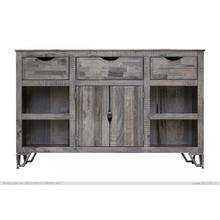 "60"" TV Stand w/ 3 Drawer, 2 Doors & 4 Shelves"