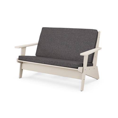 Sand & Ash Charcoal Riviera Modern Lounge Settee