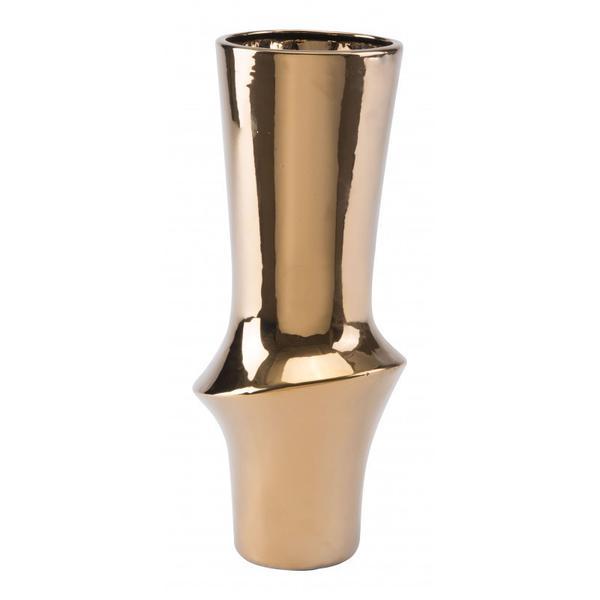 Medium Vual Vase Gold