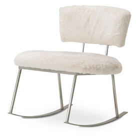 Pebblebeach Rocker Chair Pwd Brushedsilver