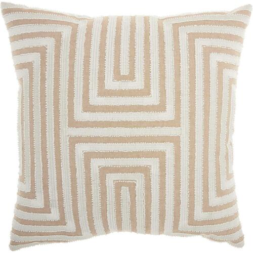 """Life Styles St444 Natural 20"""" X 20"""" Throw Pillow"""