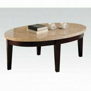 ACME Britney Coffee Table - 17142B - White Marble & Walnut