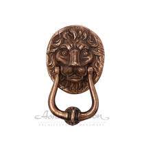 1220 Small Lion Knocker Shown in light bronze patina