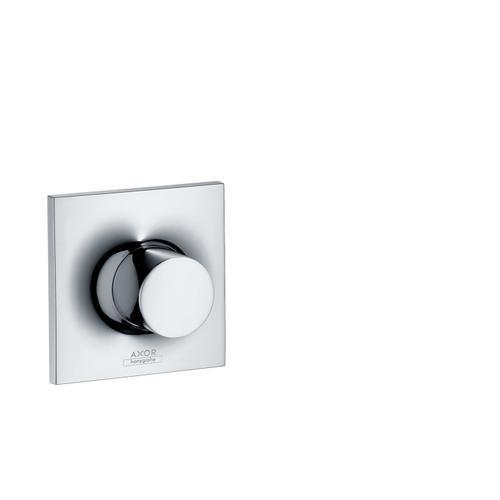 Brushed Brass Shut-off valve for concealed installation