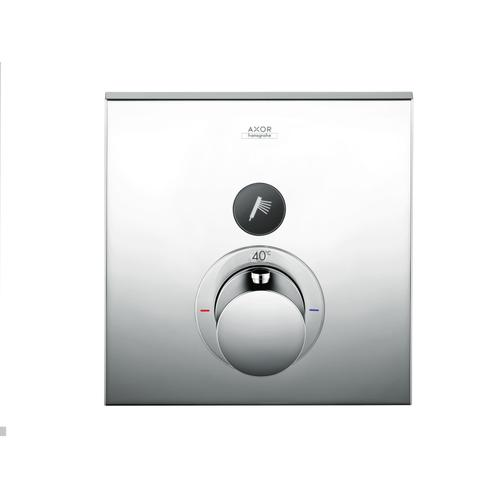 Satin Black Thermostat for concealed installation square for 1 function