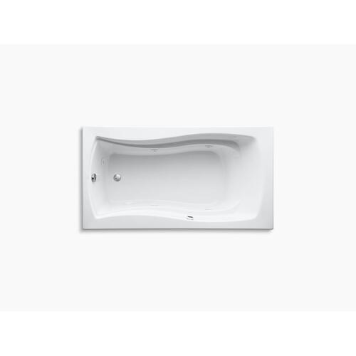 "White 66"" X 36"" Drop-in Whirlpool Bath With Bask Heated Surface and Reversible Drain"