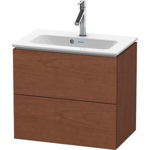Vanity Unit Wall-mounted Compact, American Walnut (real Wood Veneer)