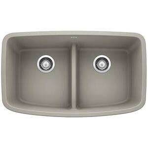 Valea® Equal Double Bowl With Low-divide - Concrete Gray