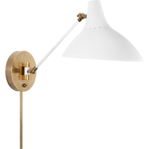 AERIN Charlton 1 Light 9 inch Plaster White Wall Light