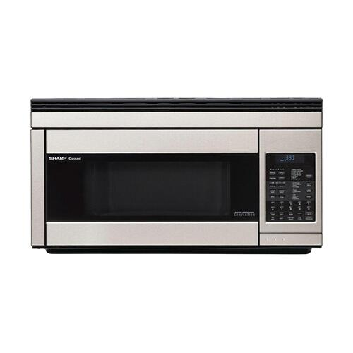 Sharp - 1.1 cu. ft. 850W Sharp Stainless Steel Over-the-Range Carousel Microwave Oven