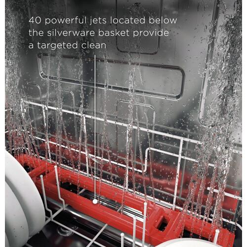 GE Profile™ Fingerprint Resistant Top Control with Stainless Steel Interior Dishwasher with Sanitize Cycle & Dry Boost with Fan Assist