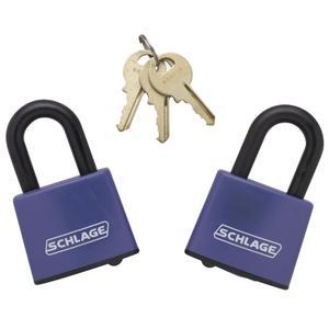 Padlock  Covered Laminated Steel Padlock 2-pack keyed alike - No Finish Product Image