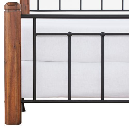 Fulton Queen Bed, Textured Black