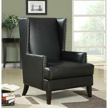 Traditional Black Accent Chair