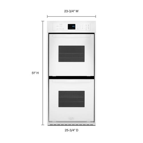 Whirlpool - 6.2 Cu. Ft. Double Wall Oven with High-Heat Self-Cleaning System