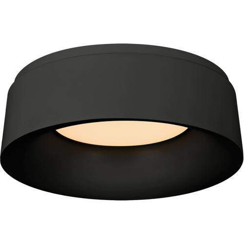 Barbara Barry Halo 1 Light 11 inch Matte Black Flush Mount Ceiling Light