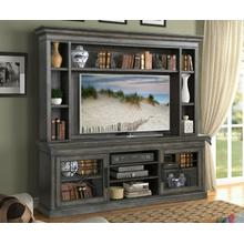 See Details - SUNDANCE - SMOKEY GREY 92 in. Console with Hutch & Backpanel