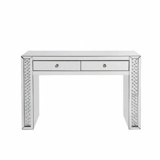 ACME Nysa Vanity Desk - 90157 - Mirrored & Faux Crystals