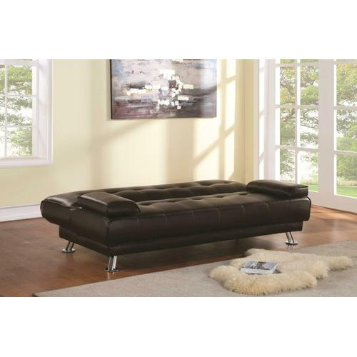 Gallery - Casual Brown and Chrome Sofa Bed
