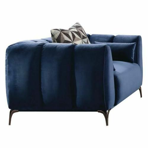 ACME Hellebore Chair w/3 Pillows - 50437 - Blue Velvet