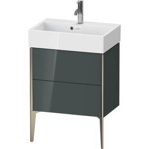 Duravit - Vanity Unit Floorstanding Compact, Dolomiti Gray High Gloss (lacquer)