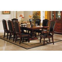 "9PC SET (100"" Trestle Table with 6 Side Chairs and 2 Arm Chairs)"