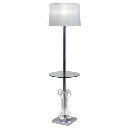 ACME Melinda Floor Lamp - 40345 - Glam - LED Light, Glass, Clear Acrylic, Metal, Shade - Clear Acrylic and Chrome