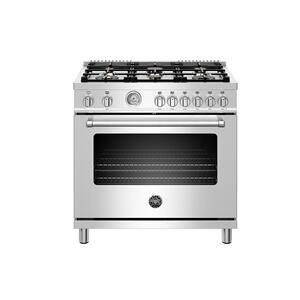 "Bertazzoni36"" Master Series range - Gas oven - 6 brass burners"