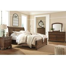 ASHLEY B719-31-36-78-76-99 Flynnter - Medium Brown 3-Piece Bedroom Group - King Bed, Dresser & Mirror